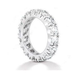 2.4 Carat. Diamonds eternity wedding band gold